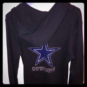 Dallas Cowboys ladies hoodie with bling
